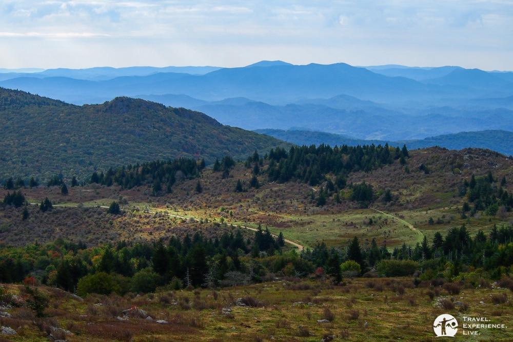Blue Ridge Mountains seen from Grayson Highlands, Virginia