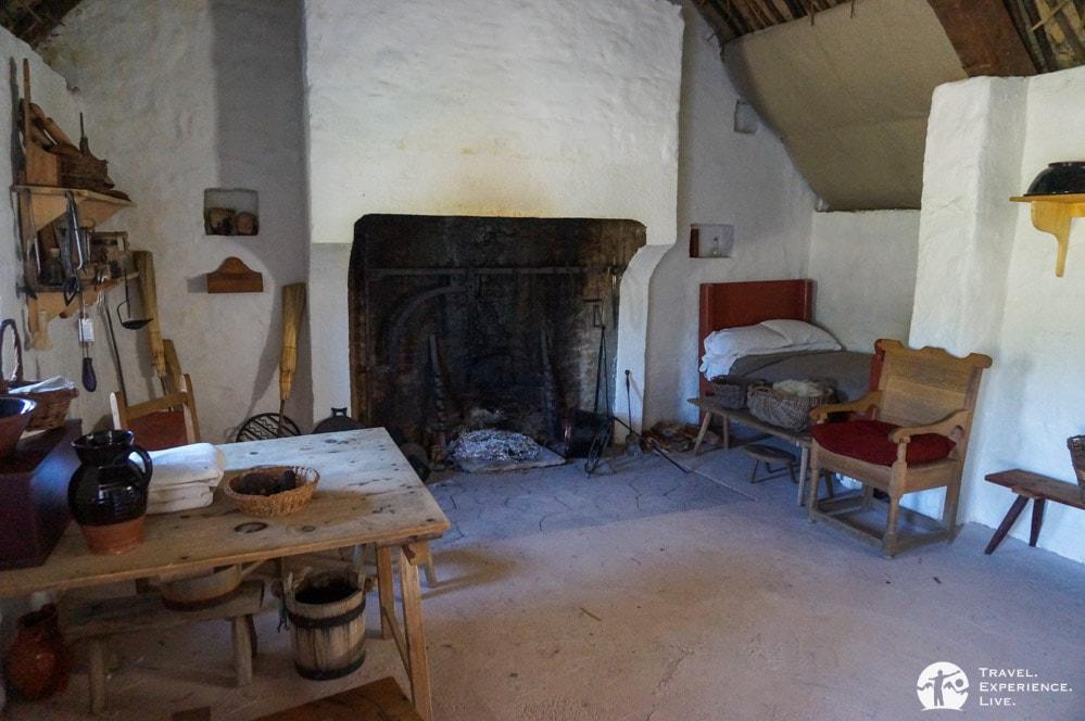 Interior of 1700s Irish Farm, Frontier Culture Museum