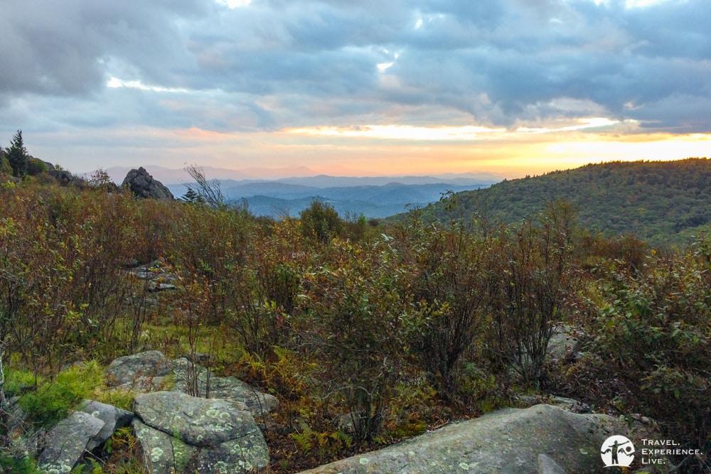 Mini-sunset in Grayson Highlands State Park, Virginia