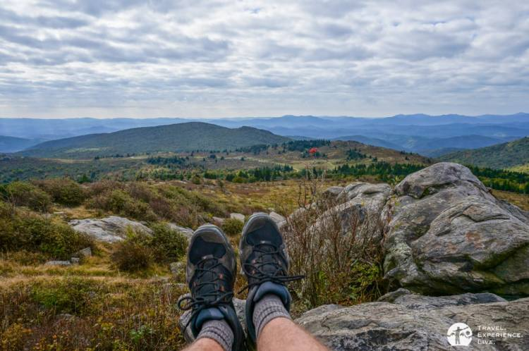 Resting atop a knob in Grayson Highlands, Virginia