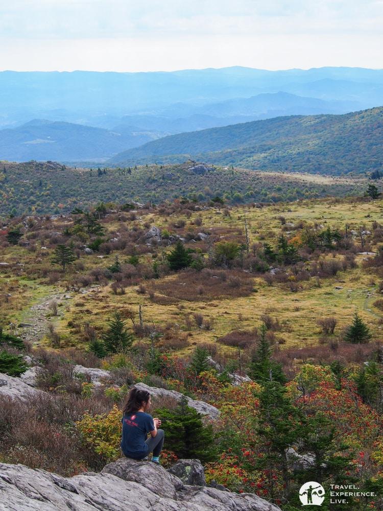 Spectacular landscape in Virginia's Grayson Highlands
