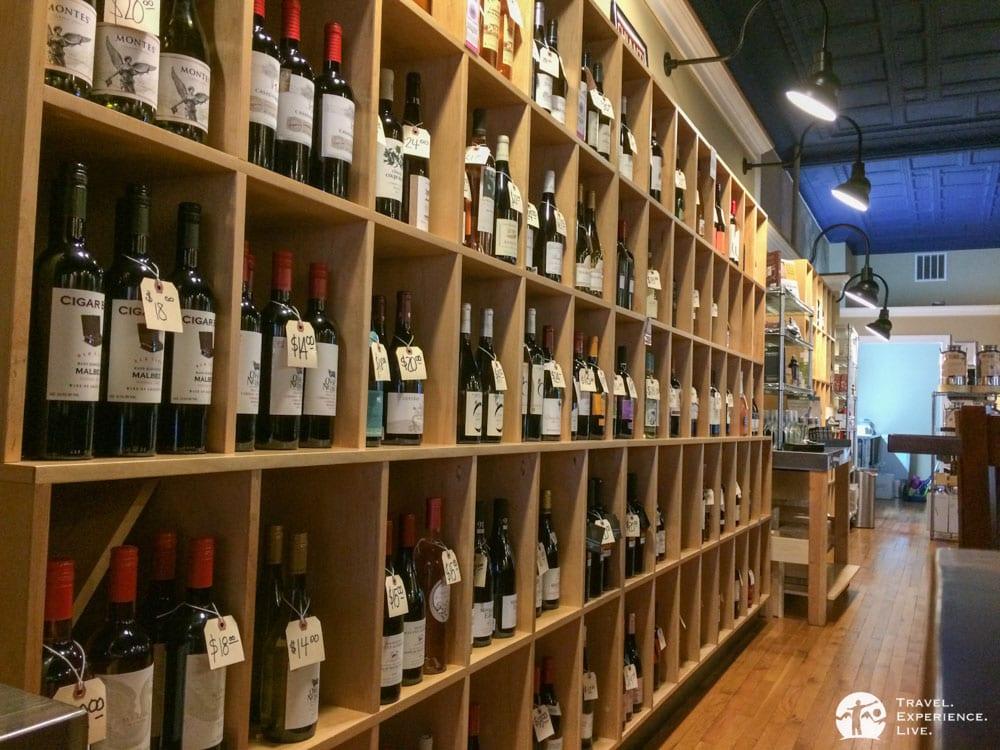 Wine selection at the Yelping Dog, Staunton