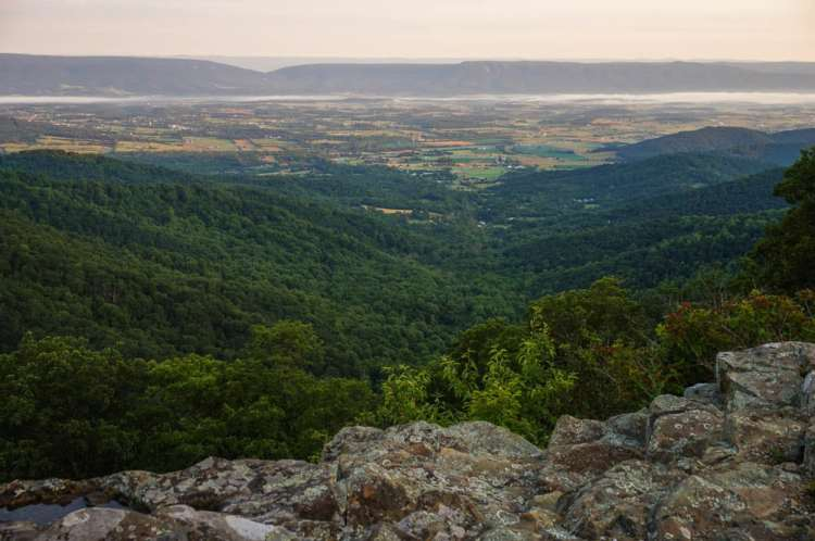 Dawn over the Shenandoah Valley