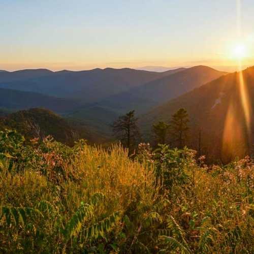 Sunset at Brown Mountain Overlook, Shenandoah National Park