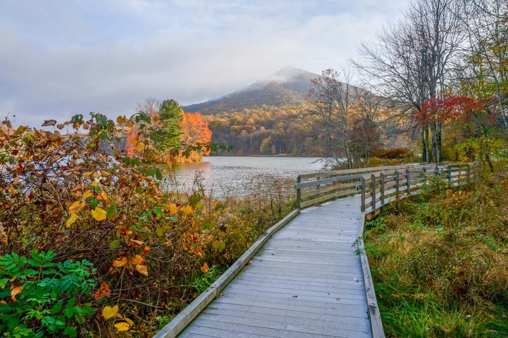 Peaks of Otter Lodge boardwalk