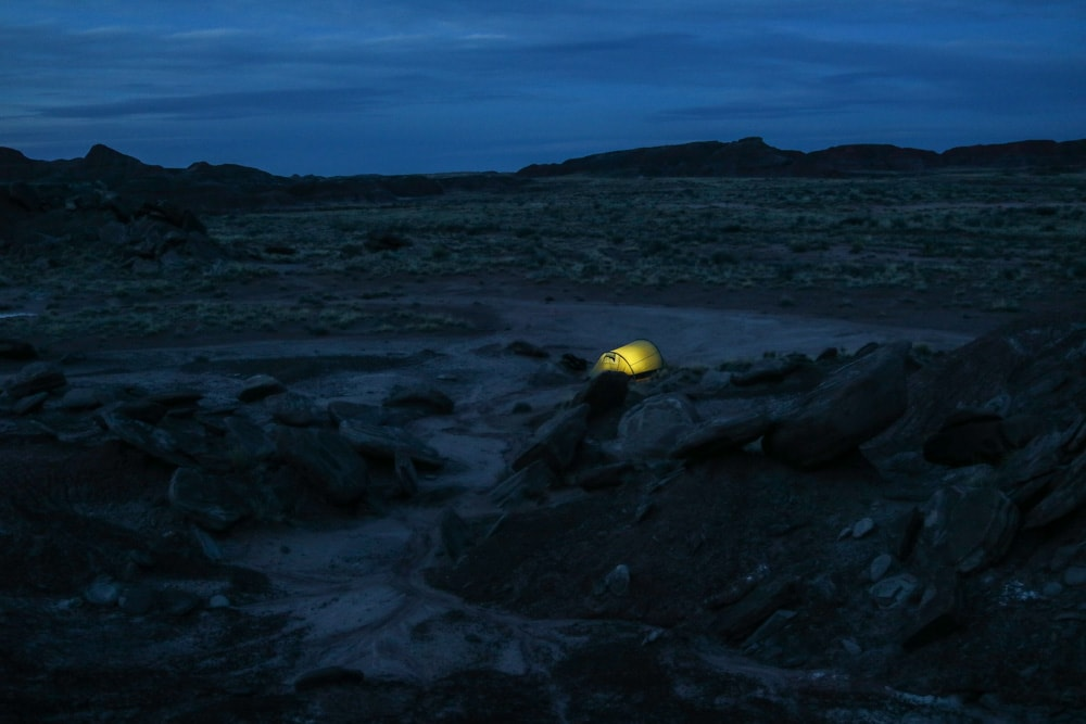 Camping in the Painted Desert, Petrified Forest National Park, Arizona