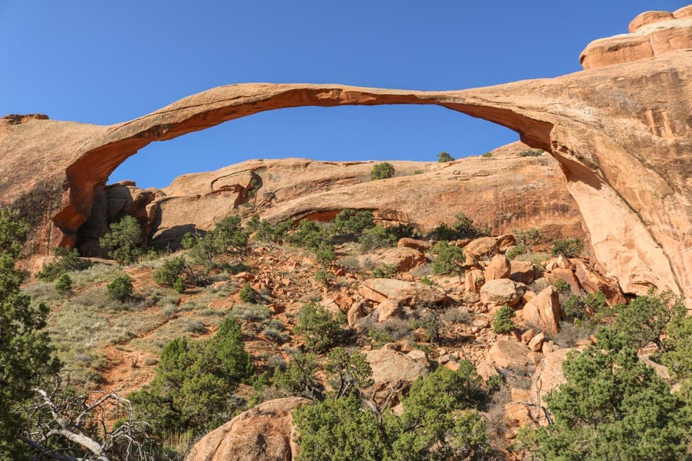 Landscape Arch in Arches National Park, Utah