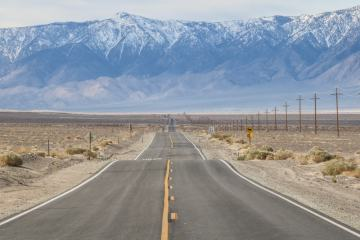 Road in Death Valley, California, National Parks Road Trip Photos