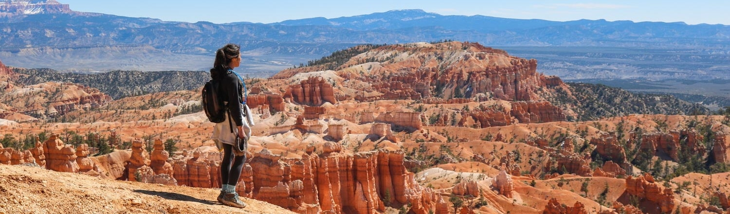 Hiker in Bryce Canyon National Park, Utah