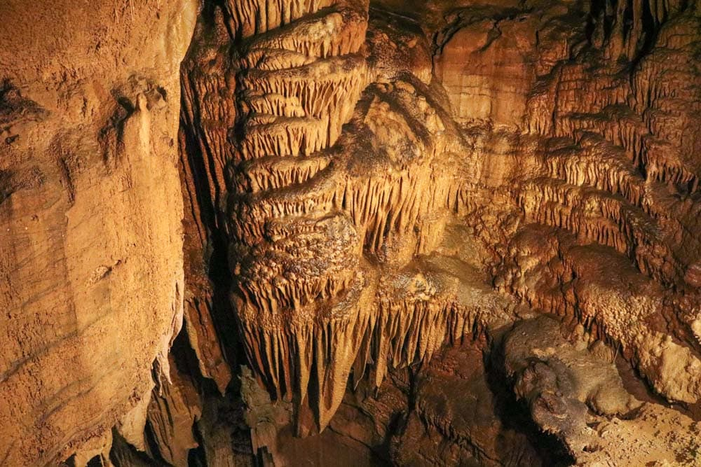 Dripstones in Mammoth Cave National Park
