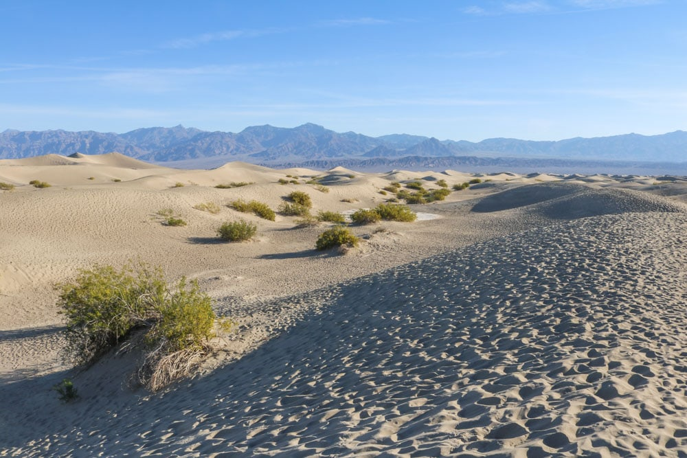 Mesquite Flat Sand Dunes landscape, Death Valley