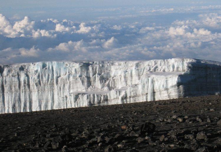 Glacier from Kilimanjaro summit