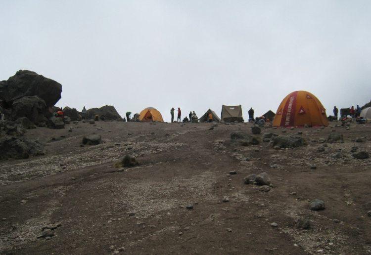 Lava Tower camp, climbing Kilimanjaro