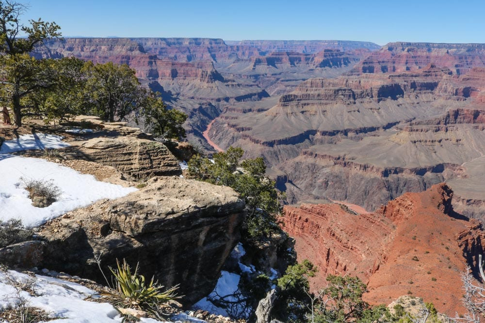 Snow in Grand Canyon National Park, Arizona