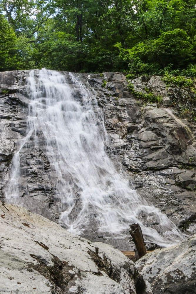 Upper Whiteoak Canyon Falls in Shenandoah National Park