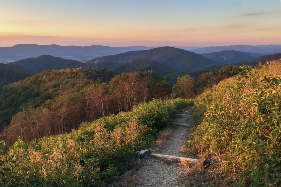 Brown Mountain Overlook, Best Places to Watch the Sunset in Shenandoah National Park