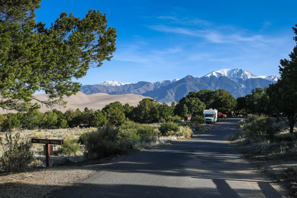 Pinon Flats Campground, Great Sand Dunes National Park, Colorado