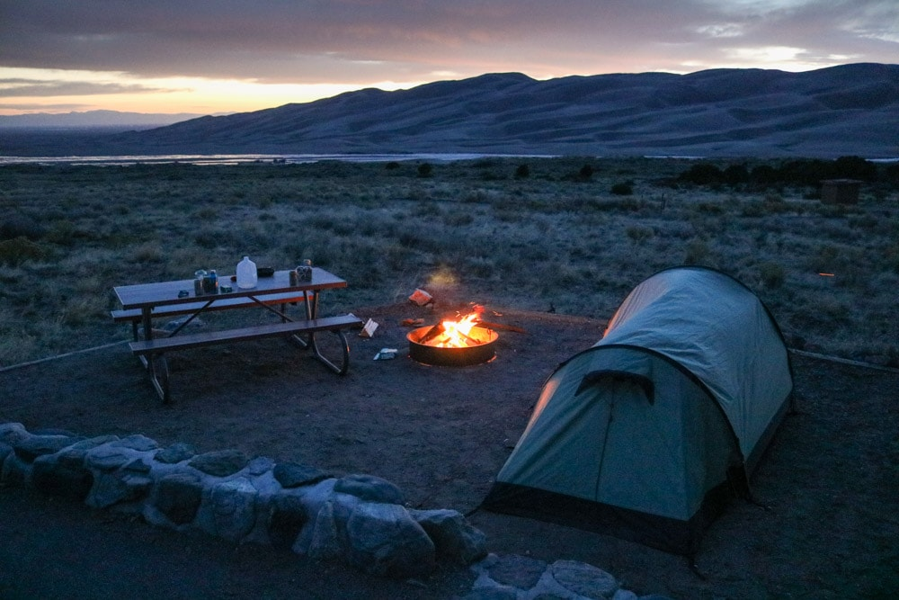 Pinon Flats Campground in Great Sand Dunes National Park