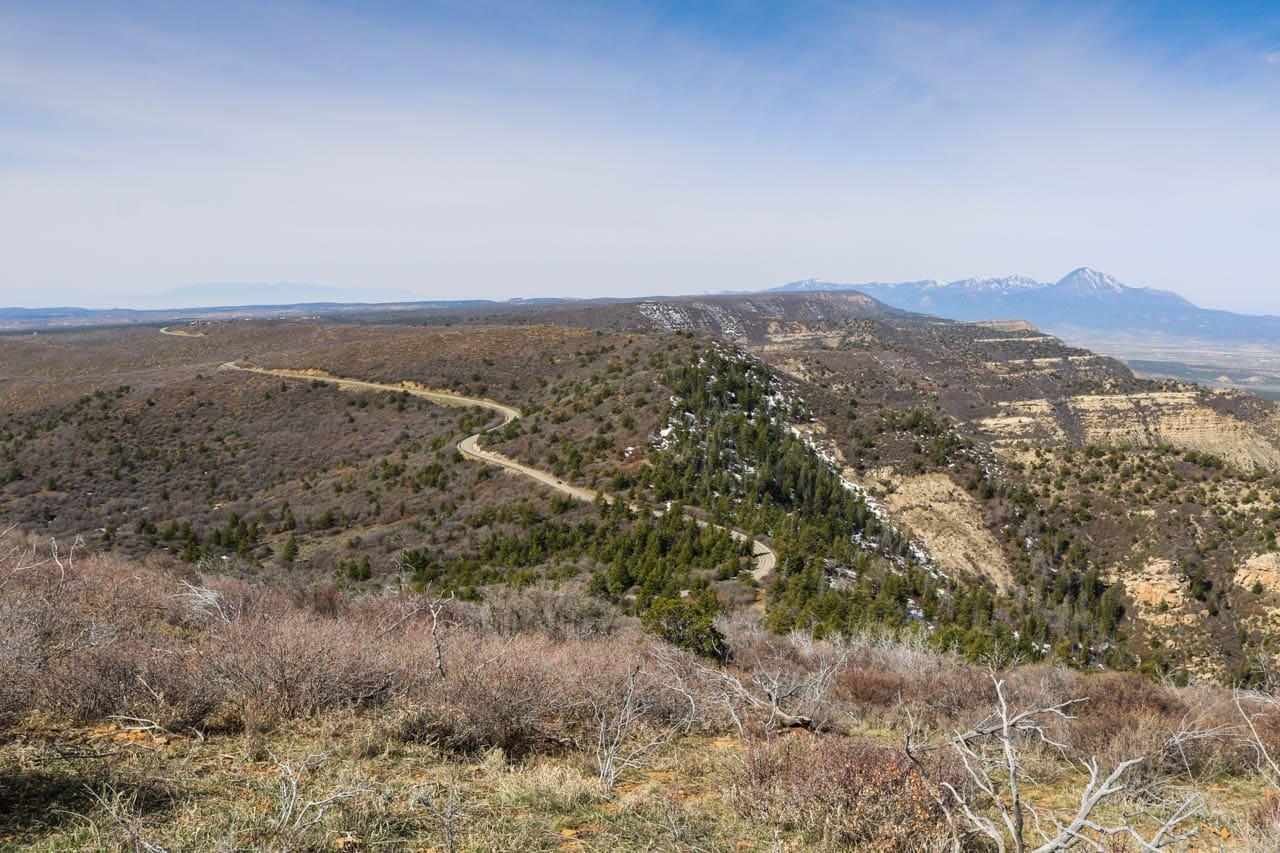 Scenic Drive in Mesa Verde National Park
