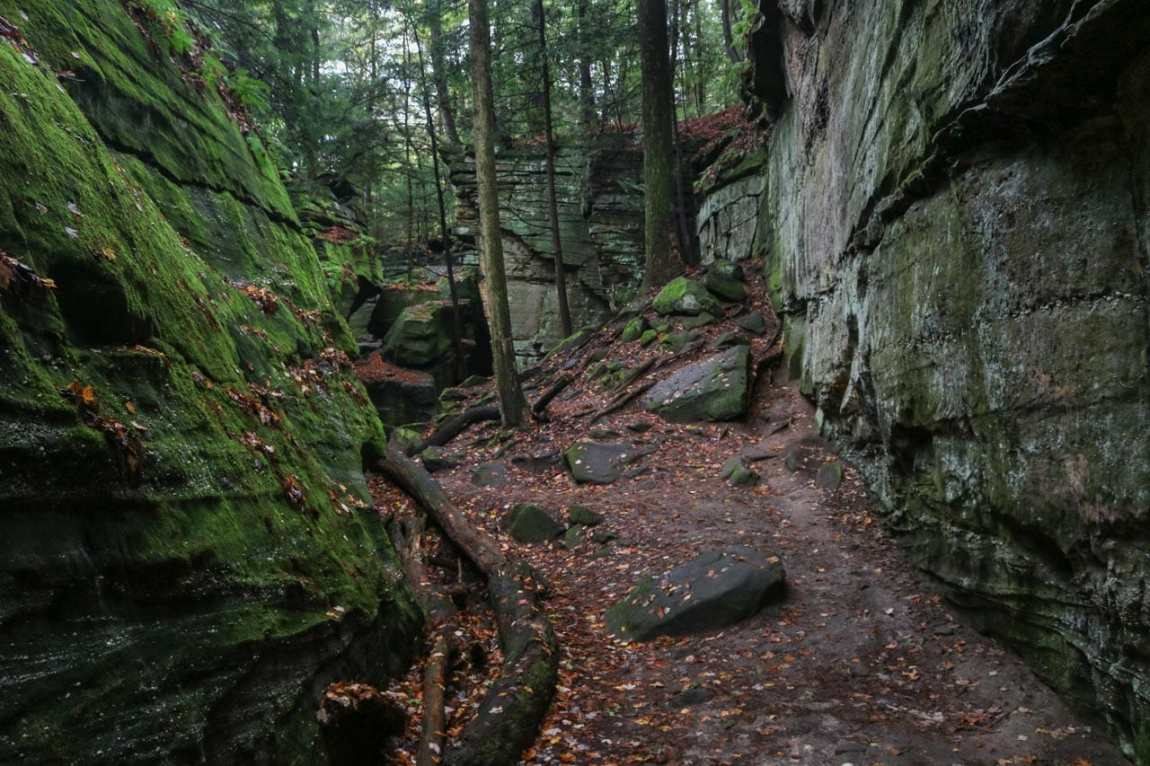 The Ledges Trail in Cuyahoga Valley National Park