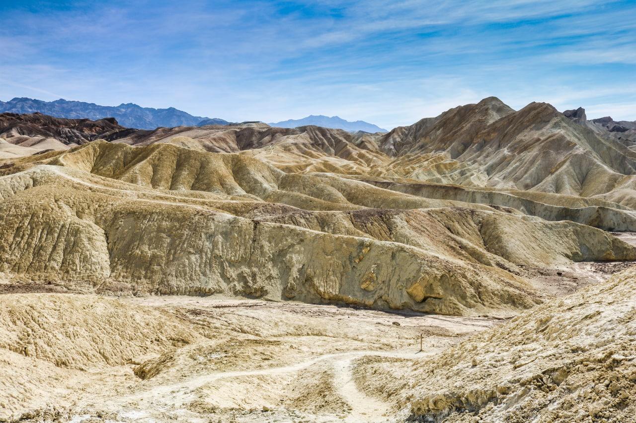 Badlands hiking trail, Death Valley National Park