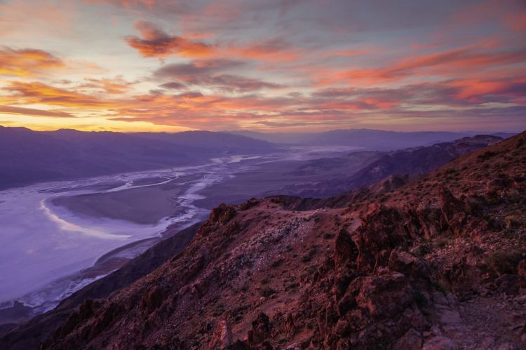 Sunset at Dante's View in Death Valley National Park, California