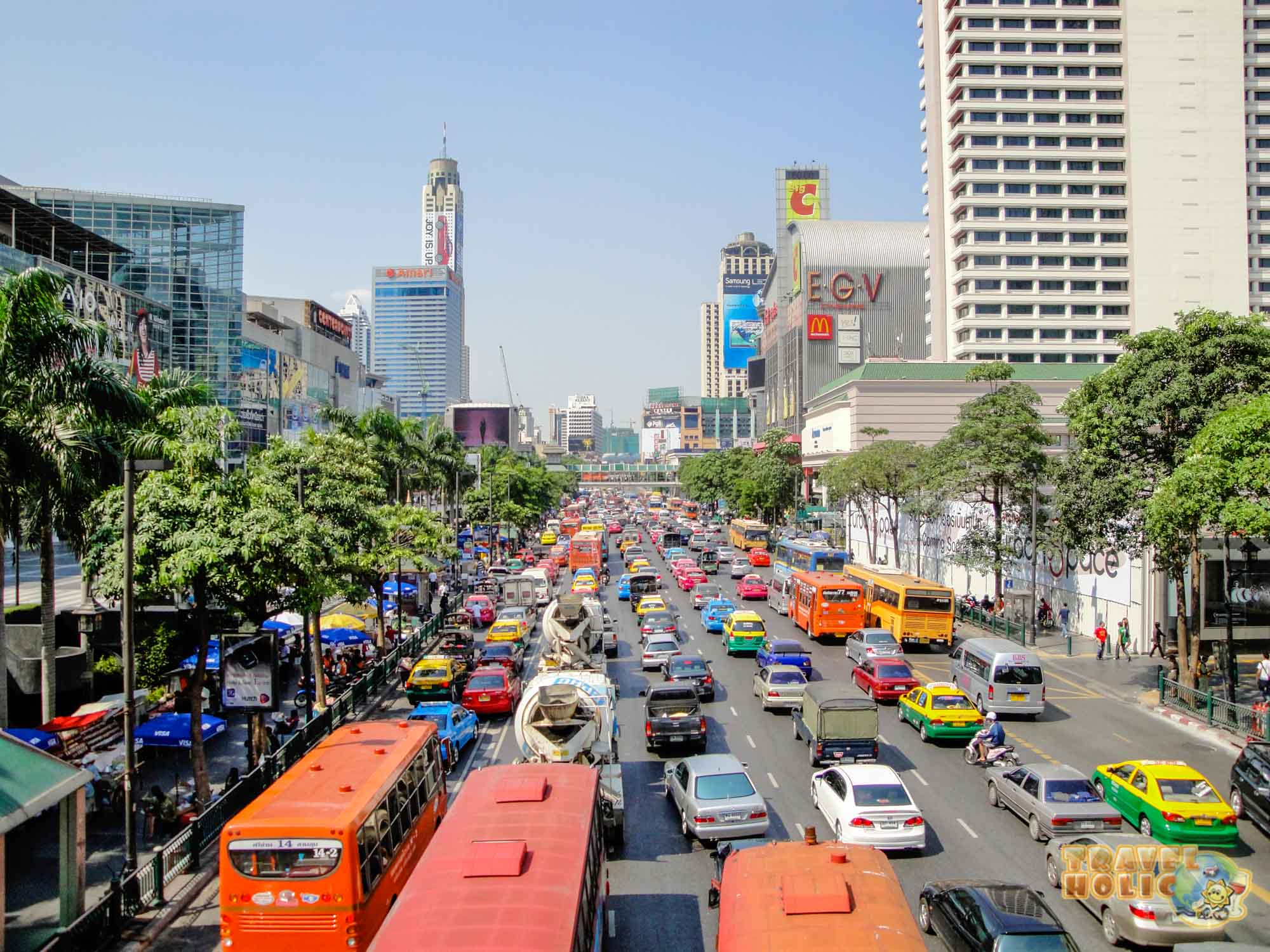 La circulation routière à Bangkok