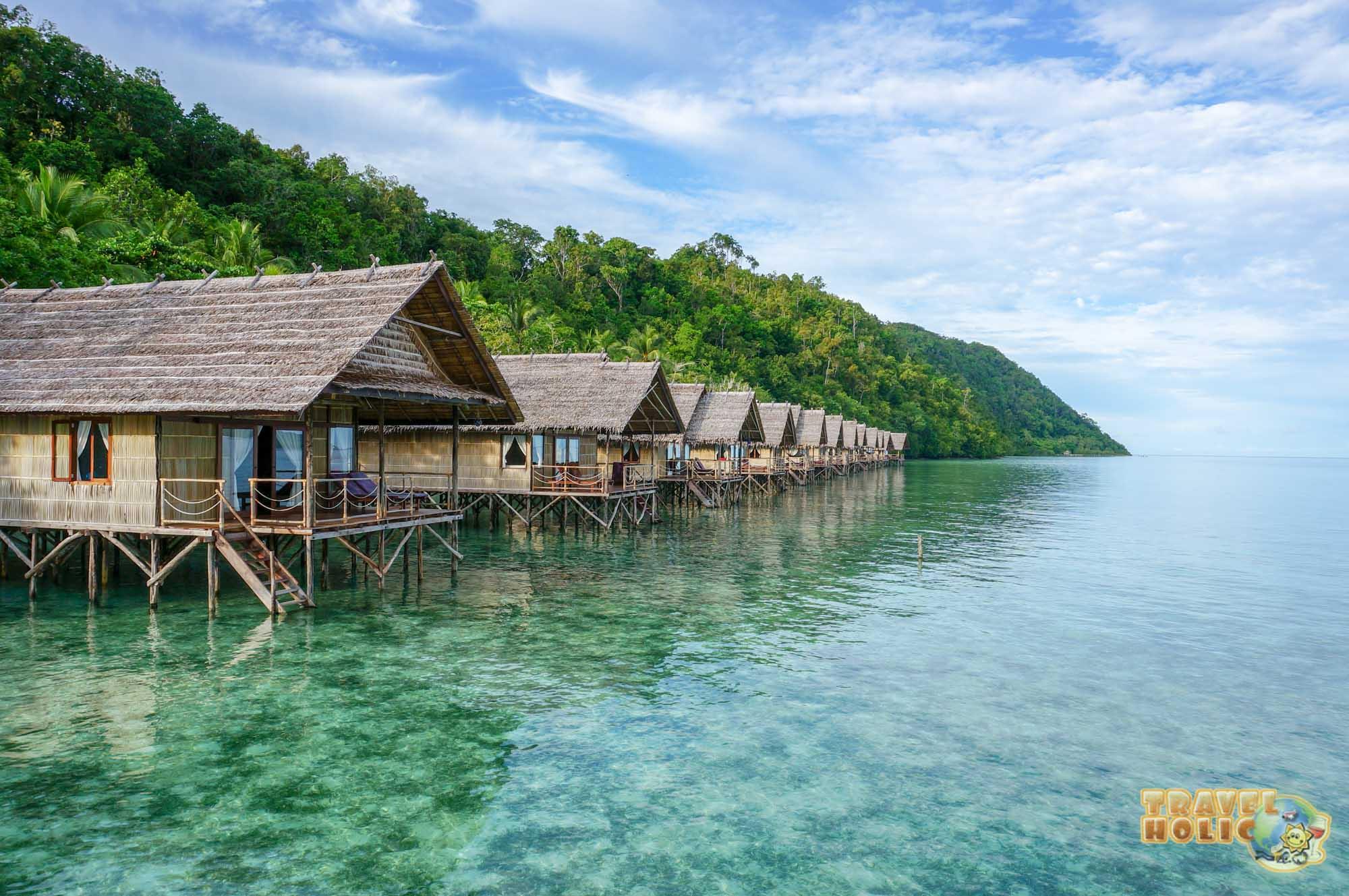 Bungalows de Papua Explorers, détroit de Dampier, Raja Ampat