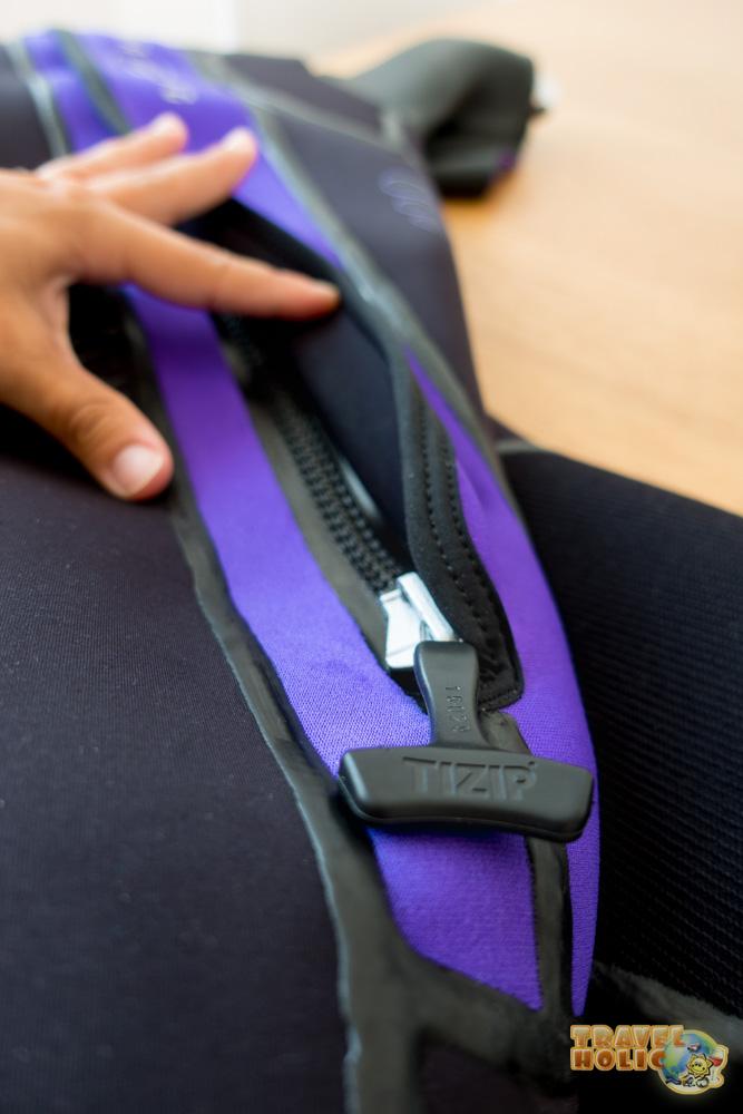 Fermeture zip de la combinaison Aqua Lung Iceland Comfort