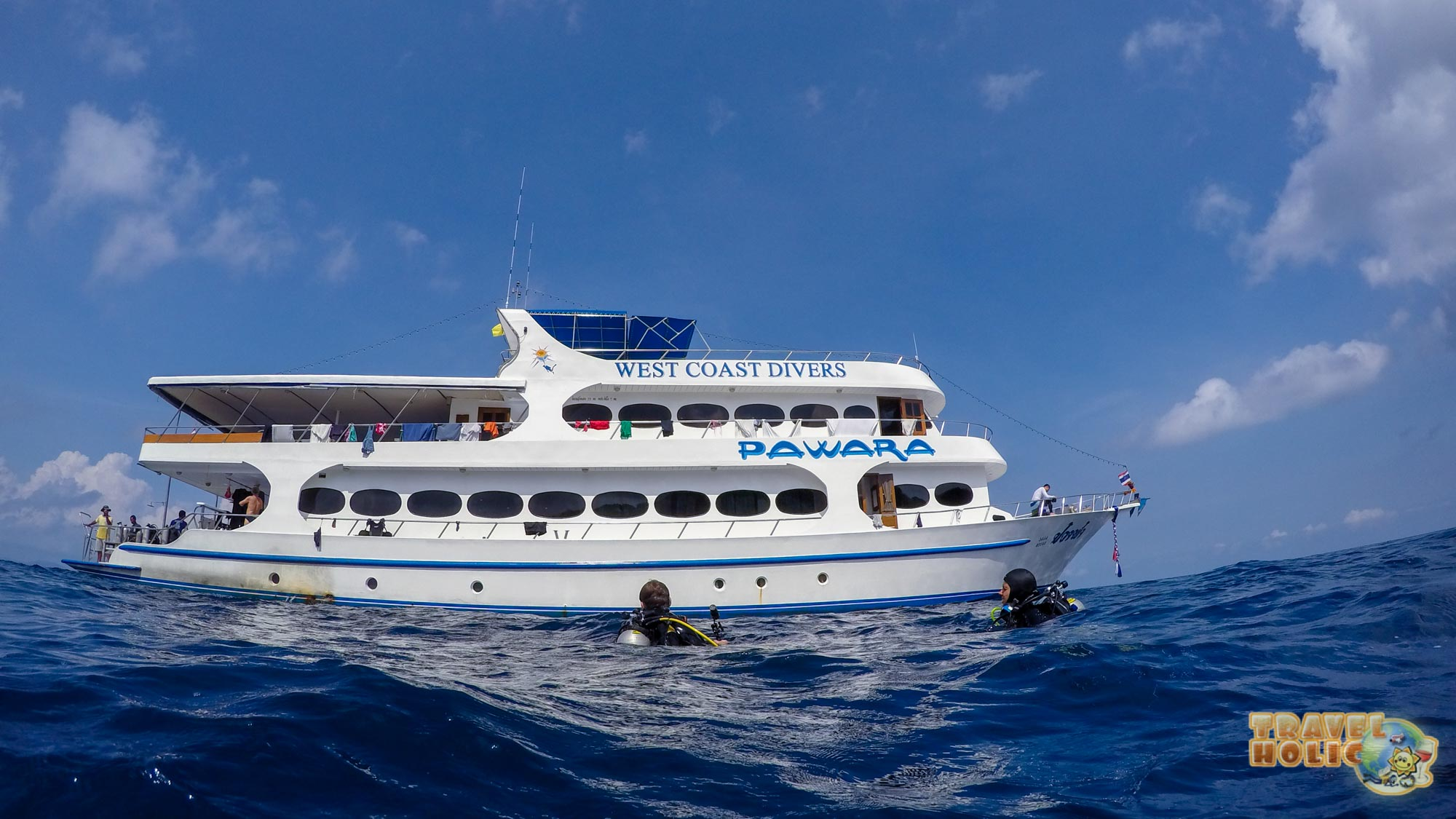Vue extérieure du MV Pawara de West Coast Divers