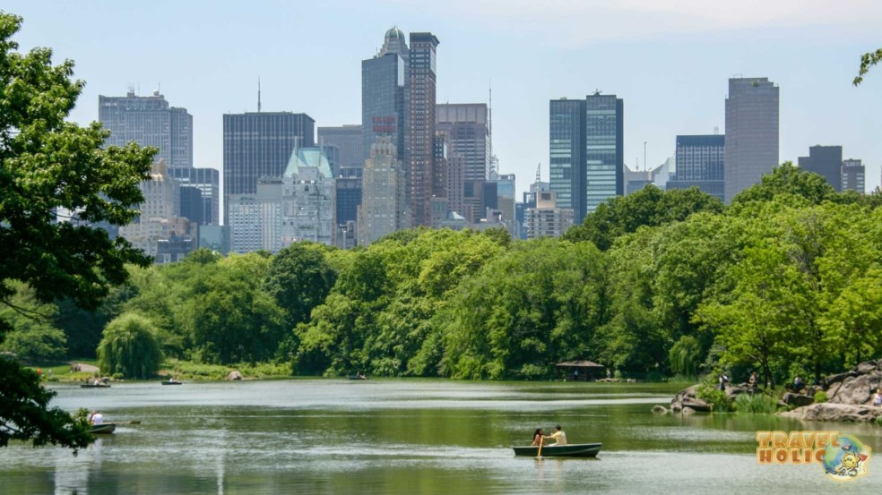 Le célèbre lac de Central Park à New York
