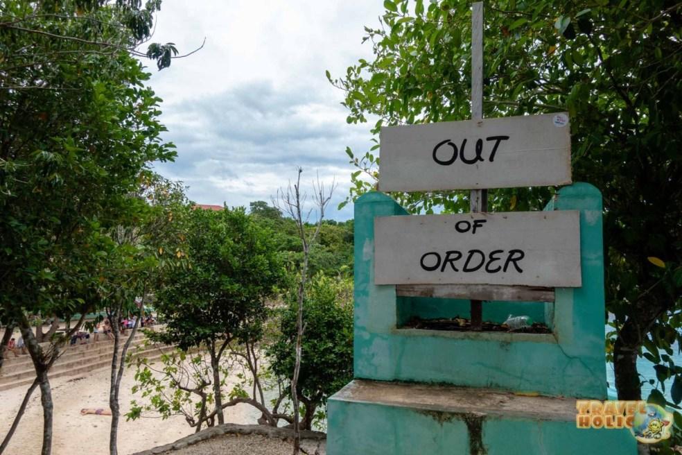 Toboggan hors service à Salagdoong beach