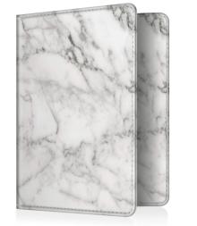 protege passeport motif marbre