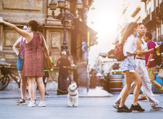 touristes rue