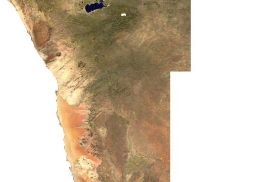 Satellite Map Namibia