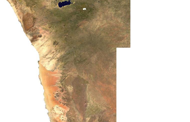 Satellite Map Namibia