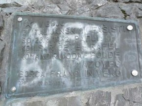 In struggle against italian fascists on 23.3.1942 had fallen: commissioner of unit - Rafael, commander of unit - Polde Mazovec, fighters - Franci and Veko
