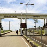 The border gate leaving Indonesia for PNG