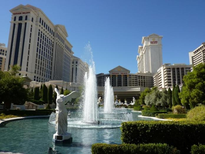 las vegas il caesars palace fontana