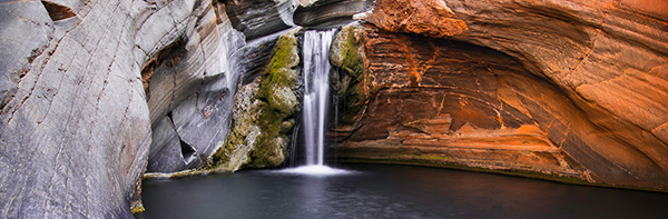Hamersley Gorge waterfall.