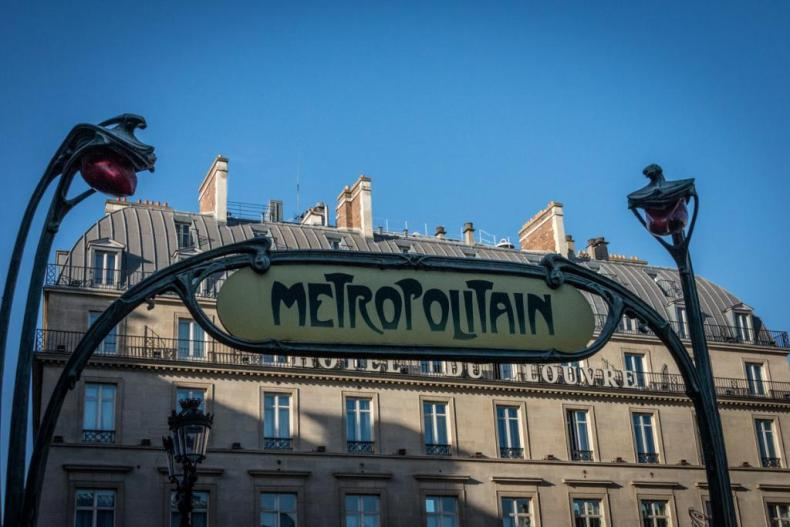Metropolitan Subway Station in Paris