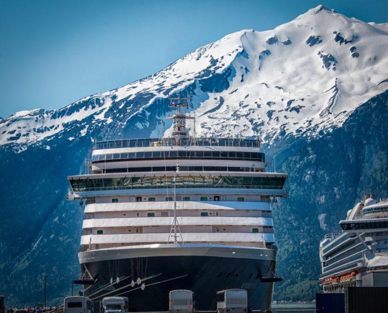 Holland America in Skagway Alaska