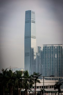 A View of the International Commerce Centre Building, Kowloon Hong Kong on our first stop of our cruise to asia