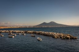 Mount Vesuvius and the bay of Naples
