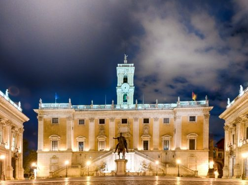 The Best way to see Campidoglio in Rome is at Night