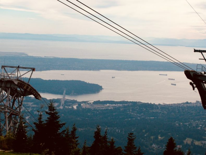 Grouse Mountain Gondola in North Vancouver, BC