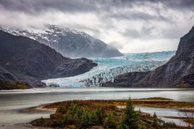 A secret glacier seen from a cruise ship