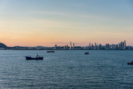 Sunset and Panama Skyline
