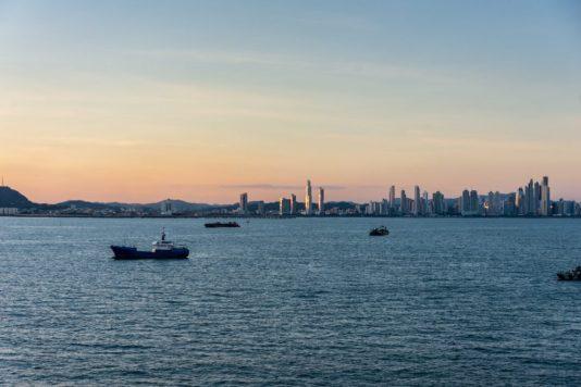 Sunset and Panama Skyline