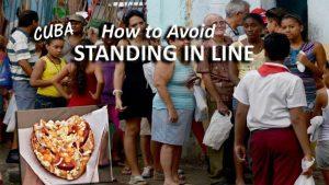 Standing in Line in Cuba